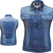 Ladies Denim Style Vest