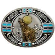 Ременная пряжка Southwestern Howling Wolf
