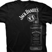 Футболка от Jack Daniels с коротким рукавом Large Bottle Black