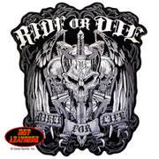 Нашивка Ride or Die Biker for Life