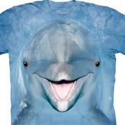 Футболка с дельфином Dolphin Face