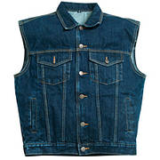 Blue Denim Vest Hot Leathers