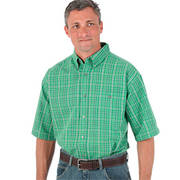 Blue Ridge Plaids Short Sleeve Green