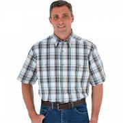 Хлопковая рубашка Wrinkle Resist Plaid Brown