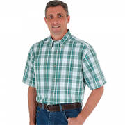 Wrinkle Resist Plaid Green