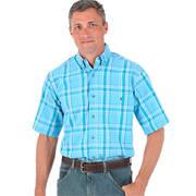 Blue Ridge Plaids Short Sleeve Blue