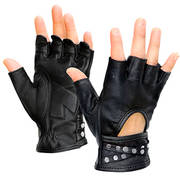 Idol Fingerless Leather Gloves