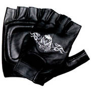 Flaming Eagle Fingerless Gloves