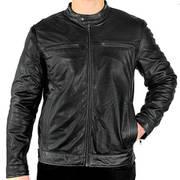 Классическая куртка Moto Racer Casual Leather Jacket