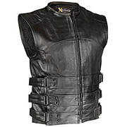 Кожаный жилет Black Bandit Perforated Vest