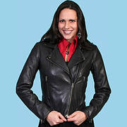 Куртка Motorcycle Black Jacket Scully