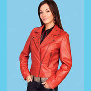 Red Vintage Lamb Jacket Scully