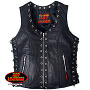 Кожаный жилет Ladies Black Lambskin Vest