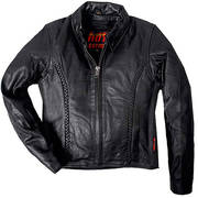 Кожаная мотокуртка Ladies Leather Jacket Braided Detail