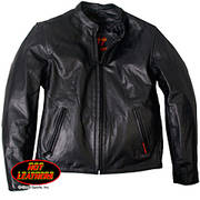Medium Weight Leather Racer Jacket