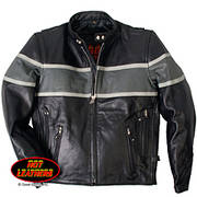 Men's Grey Striped Racing Jacket