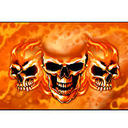Флаг Burn It Up Skulls