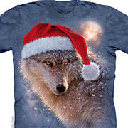 Рождественская футболка Holiday Wolf