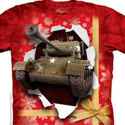 Военная футболка Детская Tank Present