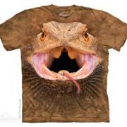 Футболка с картинкой рептилии/амфибии Big Face Bearded Dragon