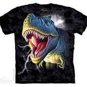 Футболка с изображением  динозавров и коротким рукавом Lightning Rex