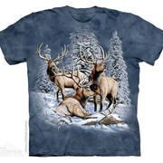 Футболка с оленем/лосём Find 8 Elk