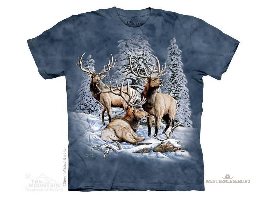 В подарок охотнику! . Футболки с изображением оленей и лосей