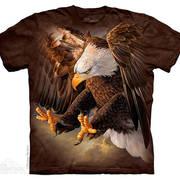 Футболка с изображением птиц и коротким рукавом Freedom Eagle