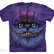 Футболка с кошкой Big Face Cheshire Cat