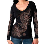 Lace Pattern Ladies LS