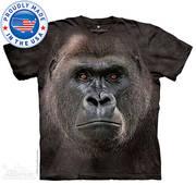 Футболка с обезьяной Big Face Lowland Gorilla