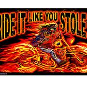 Street Rider Skull Flag