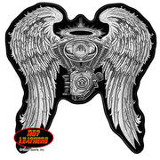 Нашивка Asphalt Angel Lady Biker Patch