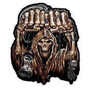 Huge Fist Skull Patch Big