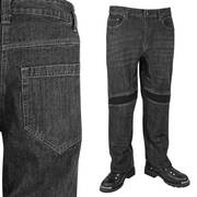 Throttle Black Denim Armored Pants