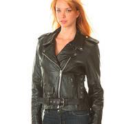 Ladies Black Biker Motorcycle Jacket