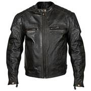 Armored Black Leather Swift Motorcycle Jacket