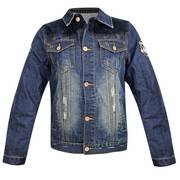 Ветровка Delux Vintage Blue Denim Casual Jacket