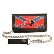 Bi-fold Leather Rebel Girl Biker Wallet