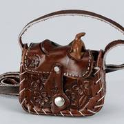Кошелек / бумажник Leather Saddle Change Purse Chocolate