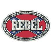 Ременная пряжка Rebel Belt Buckle Silver