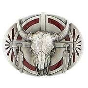 Ременная пряжка Steerhead Belt Buckle Red Enamel