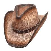 New Dark Brown Straw Hat