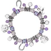 Браслет Stretch Charm Bracelet - Purple