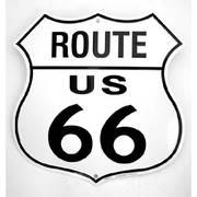 Для Дома New Route 66 Metal Shield