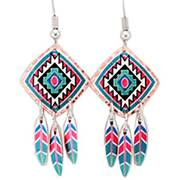 Серьги Copper Southwest Color Dangle Earrings