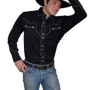 Рубашка P-726 Western Apparel Black