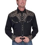 Хлопковая рубашка P-852 Black