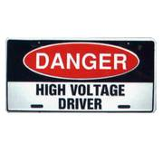 Danger High Voltage License Plate