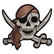 Аксессуар Skull With Crossing Sword Patch